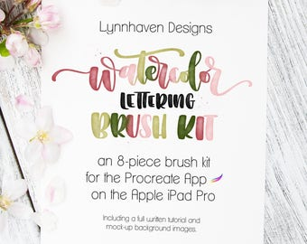 Procreate Brushes | Watercolor Lettering Brush Kit | Procreate Watercolor Brushes | Procreate Bundle | Digital Brush | Procreate Brush