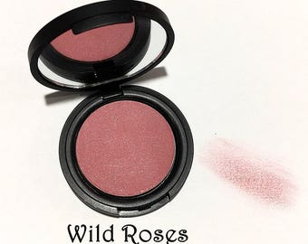 WILD ROSES Mineral Blush Natural Face Color - Gluten Free Pressed Mineral Makeup