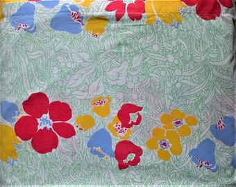 Texmade Truprest White Green Red Blue Yellow Floral Print Queen Size Flat Bed Sheet