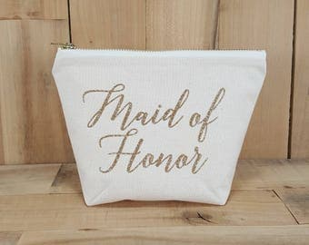 Maid of Honor Makeup Bag, Maid of Honor Gift, Maid of Honor Proposal, Maid of Honor, Will You Be My Maid Of Honor, Bridesmaid Gift, Wedding
