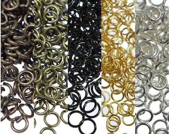 100/200/500 Jump Rings Metal Open Jewellery Making Findings 3,4,5,6,10mm Silver Gold Bronze Gunmetal Copper