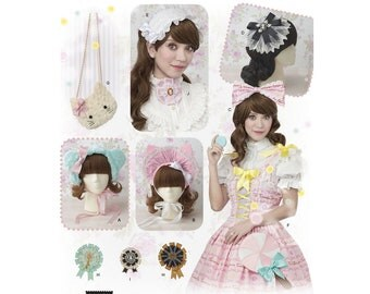 8443, Simplicity,  Hair Accessories, hat, bonnet, bow, fascinator, headpiece, purses, medallions, Lolita, Little Bo Peep, Cosplay,