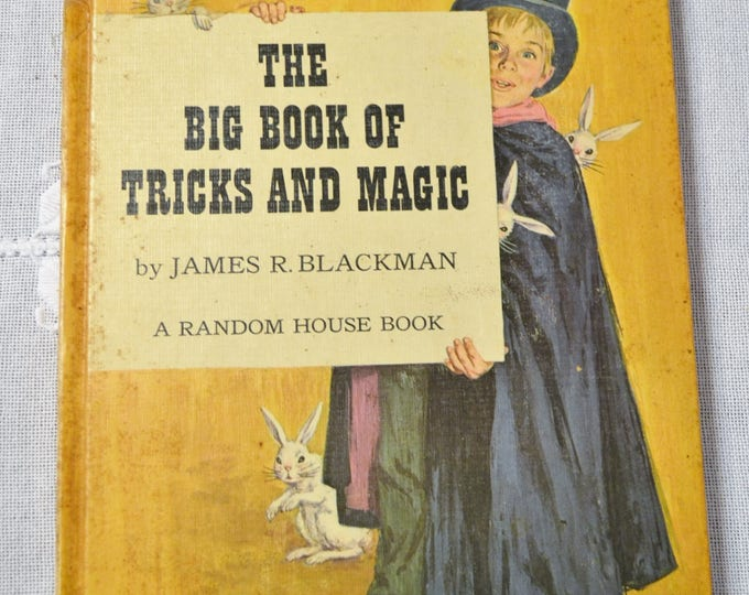 Big Book of Tricks and Magic James Blackman 1962 Vintage Childrens Book Panchosporch