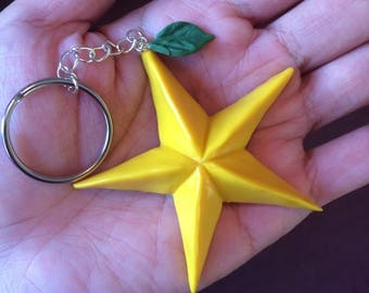 Kingdom Hearts Paopu Fruit Keychain. Cute item from the popular Playstation game