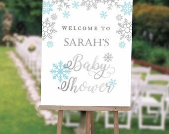 Winter Wonderland First Birthday Welcome Sign , Winter ONEderland Birthday Sign, First Birthday Welcome Sign, Printed Or Digital File