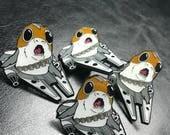 Porg Millennium Falcon lapel / Enamel Pin, Pin Badge