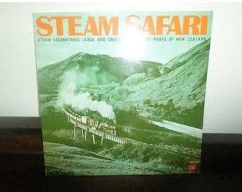 Rare Railroad Train Record Steam Safari Steam Locomotives from New Zelaland Near Mint Condition 5155