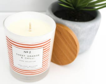 Coconut Wax Candle - No2 Sweet Orange & Chilli
