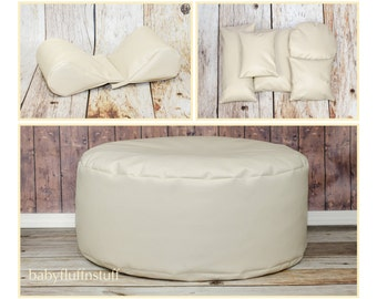 COMBO SAVINGS**Marine Travel Bean Bag Poser, Set of Wedge Poser Pillows and Five Pack of Posing Pillows