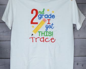 Personalized 1st Grade I got This! Applique Shirt or Onesie Girl or Boy
