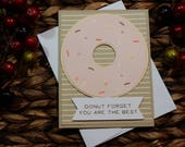 Encouraging Greeting Card / Handmade Greeting Card / Blank Inside Greeting Card / Stamped Greeting Card