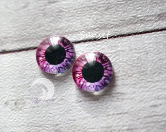 Eyechips for Pullip and Yeolume glass - size 12 or 13mm - Sunset - NEW!