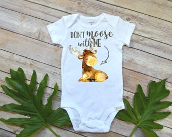 Baby Shower Gift, Baby Boy Clothes, Don't Moose With Me, Cute Baby Gifts, Nephew Gift, Canada Baby, Newborn Gift, Niece Gifts, Boy Gifts