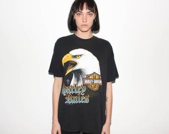 80s Harley Davidson Eagle 1989 T Shirt