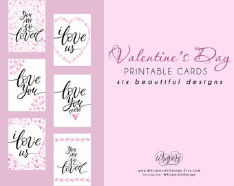 Valentine's Day printable cards, Valentine's Day cards, Valentine's Day decor, Valentine printables, Love cards