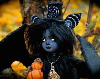 OOAK Gothic Bat Art Doll