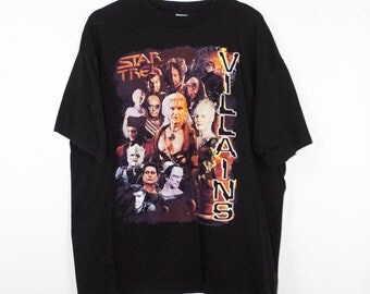 vintage STAR TREK VILLAINS t shirt - khan - klingons - borg queen