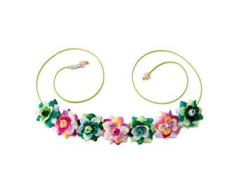 Te Fiti Flower Crown, Flower Headband, Te Fiti Costume, Moana Costume, Moana Dress, Moana Party, Moana Birthday, Cosplay Costume