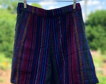 Comfy Woven Shorts: Plum Wine