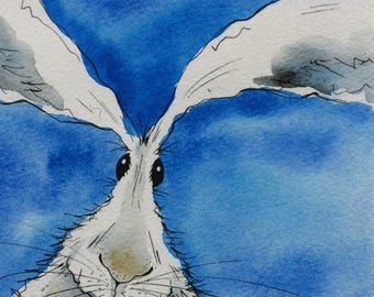 Limited edition print - hare, hare print, square print