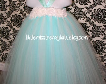 Frozen Inspired Tutu Dress, Frozen Tutu Dress, Elsa Tutu Dress, Princess Elsa Tutu Dress,  Tutu Dress, Elsa, Aqua White Dress, Aqua Tutu