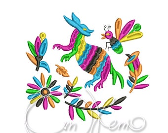MACHINE EMBROIDERY DESIGN - Otomi Armadillo