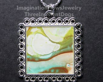 Handmade Jewelry, Acrylic Flow, Inexpensive,  Each Necklace Unique