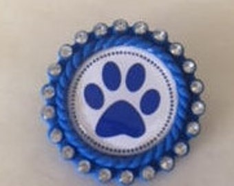 Kentucky Wildcats Pins.. Resin Cameo Diamond Cabochoncat.. Perfect gift for a Wildcat Fan!!