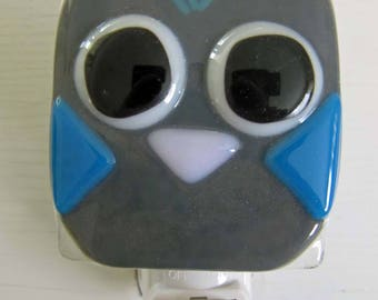 Aiden - Owl: Fused Glass Night Light - Free Shipping!