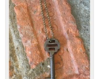 Ophelia Antique Skeleton Key Necklace on Ball Chain