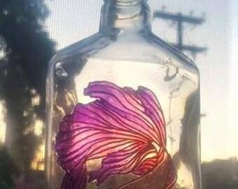 Liza the Fish Sun-catcher Bottle