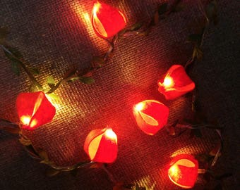 string lights physalis flowers fairy lights wedding decoration led garland lights holiday lights bedroom decor flowers - Flower Christmas Lights