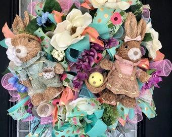 Easter Wreath, Easter Decoration, Front door wreaths, door hanger, Wreath for door, Spring Wreaths, Only 1 Available