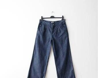 Vintage Hippie Pants Wide Leg Jeans Denim Cluottes Low Waist Jeans Women Disco Style Pants Denim Summer Pants Large Size Jeans