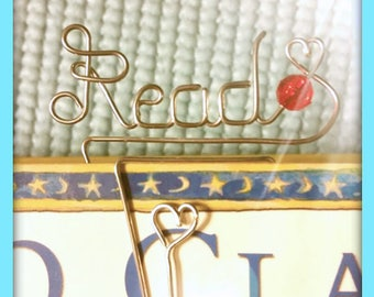Personalized Bookmark, Wire Name Bookmark, Custom bookmark with Free Gift Box