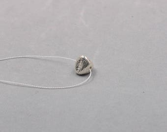 10.5mm Sterling Silver Handmade Triangle Beads -- 925 Silver Charms Wholesale For Bridesmaid Gift Party XXSP-S0648