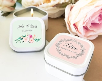 Bridal Shower Favors Personalized Candles Wedding Favors Bridal Shower Candle Favors (EB2077GDN) 12| pcs