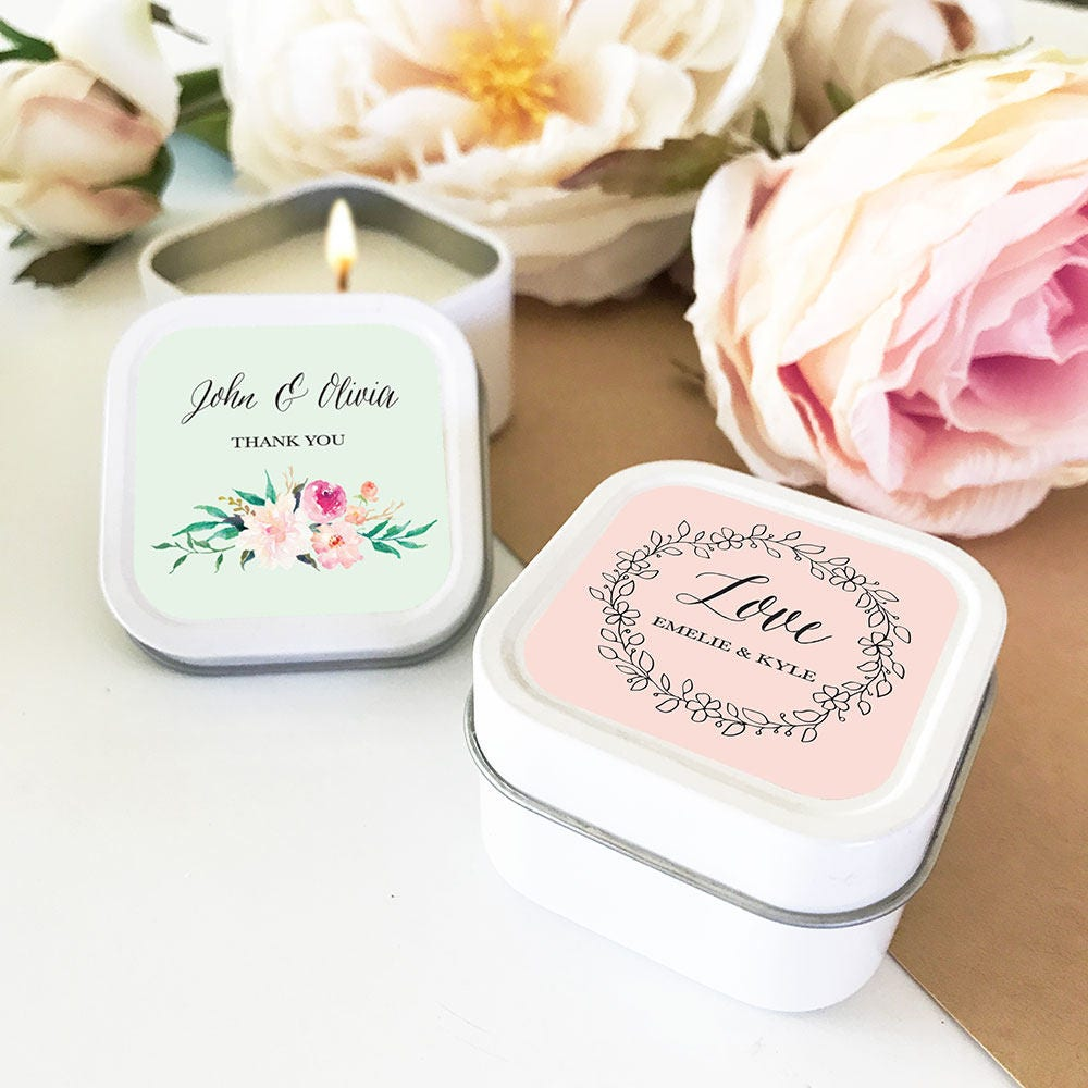 Bridal shower favors personalized candles wedding favors for Personalized wedding shower favors