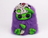 OOAK DOLL - Jason Voorhees -Friday the 13th- Crystal lake - Monster Art Doll - ooak polymer clay doll - hairy monster - fantasy doll