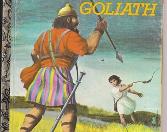 David and Goliath  -- Little Golden Book from 1980    ~~ FREE SHIPPING in the USA!