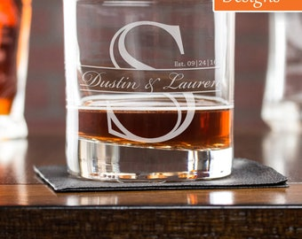 Personalized Whiskey Glass, Retirement Gift, Engraved Whiskey Glass, Monogram Gift, Whiskey Glass, Rocks Glass, Scotch Glass, Corporate Gift