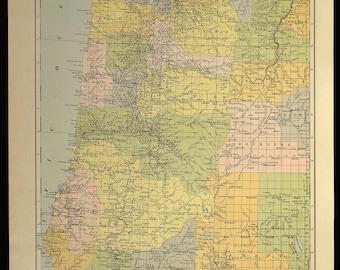 West Coast Map Etsy - Map of western oregon