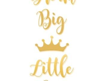 Dream Big Little One. Nursery Wall Art. Nursery Decor. Nursery Prints. Nursery Art. Blue Gold Nursery. Baby Boy Nursery.