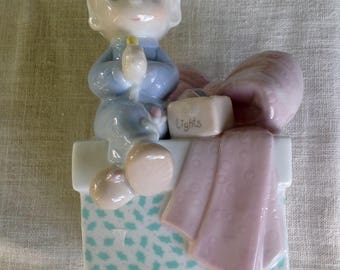 Precious Moment's 1991 boy night light