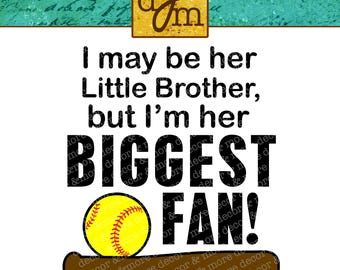SOFTBALL BROTHER SVG. Softball Brother Svg file. Softball Brother Shirt. Cute Softball Brother Saying. Use your Cricut and some Htv!