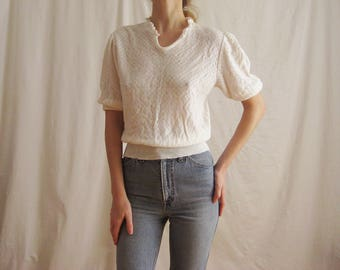 80s Does 40s Knit Top S M