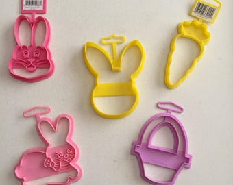 Easter Cookie Cutters- Eggs Rabbit Bunny Basket Carrot Wilton