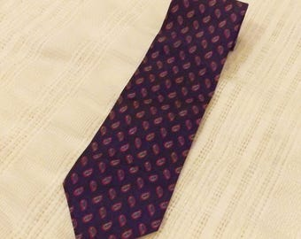 70's Italianissimo Blue Pattern Men's Necktie