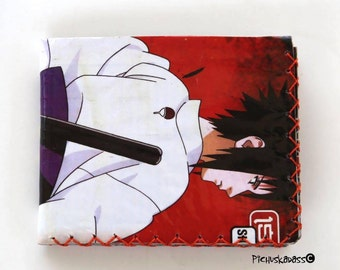 Anime accessories wallet, Wallet Naruto, Reycled Naruto wallet, Manga Anime wallet, Upcycled wallet.