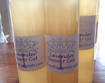 Shower Gel LAVENDER/ Unscented / Lemongrass/ Cedar & Sage All Natural Chemical free, Mild, Sensitive Skin, hypoalergenic